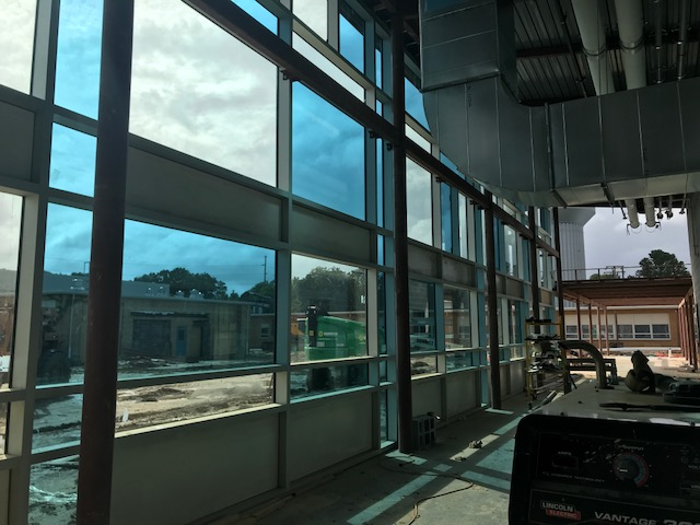 Construction breezeway windows